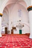 Nicosia, Cyprus - 4 Oct 2018: Verbazend binnenland van Islamitische Selimiye-Moskee in Cypriotisch Nicosia De decoratie is hoofdz royalty-vrije stock fotografie