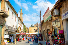 NICOSIA, CYPRUS - SEPTEMBER 19: Arasta street, a touristic stree Stock Photos