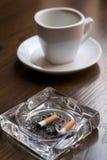 Nicotina e caffeina. Fotografia Stock Libera da Diritti