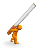 Nicotine addiction Stock Image