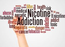 Free Nicotine Addiction Word Cloud And Hand With Marker Concept Stock Image - 133807261