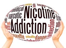 Free Nicotine Addiction Word Cloud Hand Sphere Concept Stock Image - 133807061