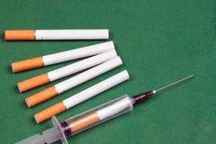 Nicotine dependence Royalty Free Stock Photos