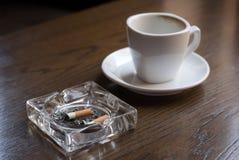 Nicotine en cafeïne. Royalty-vrije Stock Afbeelding