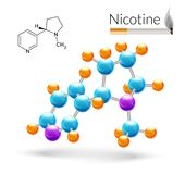 Nicotine molecule 3d Stock Photography