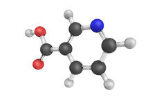 Nicotinic acid, used to treat high cholesterol and niacin defici Royalty Free Stock Photography