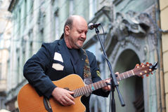 Nicu Alifantis im Konzert lizenzfreie stockfotos