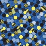 Nid d'abeilles bleu Photo stock