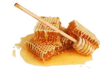 Miel frais dans le peigne Image libre de droits