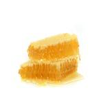 Nid d'abeilles d'isolement sur un fond blanc Photos libres de droits