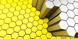 Nid d'abeilles de fond Images stock