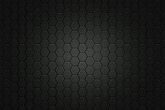 Nid d'abeilles noir de forme d'hexagone Images stock