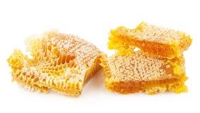 Nid d'abeilles sur le fond blanc Images stock