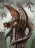 Nid de dragon illustration stock