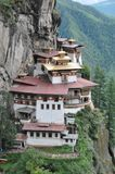 Nid de tigres monastary dans Paro, Bhutan Image stock
