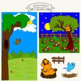 nid et oiseau Images libres de droits
