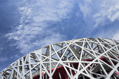 Nid le Stade Olympique un jour d'été, Pékin du ` s d'oiseau Image stock