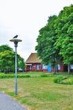 Nida è uno stabilimento nello sputo di Curonian, sulle periferie del sud della città di Neringa immagine stock libera da diritti
