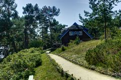 Nida Λιθουανία Τον Αύγουστο του 2018: Θερινό σπίτι του Thomas Mann στη Nida Λιθουανία στοκ εικόνες με δικαίωμα ελεύθερης χρήσης