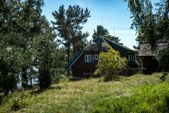 Nida Λιθουανία Τον Αύγουστο του 2018: Θερινό σπίτι του Thomas Mann στη Nida Λιθουανία στοκ φωτογραφία με δικαίωμα ελεύθερης χρήσης