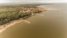 Nida. Aerial view of kursiu nerija and Nida Royalty Free Stock Image