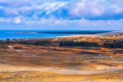 Nida - Curonian-Spit en Curonian-Lagune, Nida, Klaipeda, Litouwen Baltische duinen Unesco-erfenis Nida wordt gevestigd Royalty-vrije Stock Fotografie