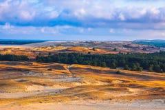 Nida - Curonian-Spit en Curonian-Lagune, Nida, Klaipeda, Litouwen Baltische duinen Unesco-erfenis Nida wordt gevestigd Royalty-vrije Stock Afbeeldingen