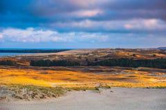 Nida - Curonian-Spit en Curonian-Lagune, Nida, Klaipeda, Litouwen Baltische duinen Unesco-erfenis Nida wordt gevestigd Stock Afbeeldingen