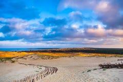 Nida - Curonian-Spit en Curonian-Lagune, Nida, Klaipeda, Litouwen Baltische duinen Unesco-erfenis Nida wordt gevestigd Royalty-vrije Stock Afbeelding