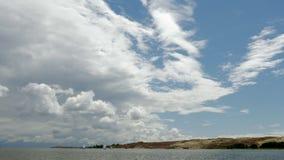 Nida Curonian Spit y laguna de Curonian, dunas bálticas Herencia de la UNESCO almacen de video