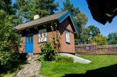 Nida litouwen Augustus 2018: De zomerhuis van Thomas Mann in Nida litouwen stock afbeelding