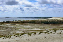 Nida, neringa peninsula, lithuania, europe. View from the dune parnidis in nida in the so-called sahara lithuanian peninsula neringa stock photography