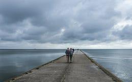 Nida, península del neringa, Lituania, Europa foto de archivo