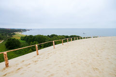 Nida port on Curonian spit in Lithuania Stock Photos