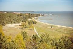 Nida - una vista dal parco nazionale Fotografie Stock