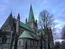 Nidaros大教堂/Nidarosdomen,特隆赫姆,挪威 免版税库存图片