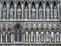 Nidaros cathedral in Trondheim. Famous Trondheim cathedral - Nidarosdomen. Norway city landmark Royalty Free Stock Photography