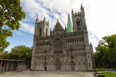 Nidaros cathedral of Trondheim Stock Photography