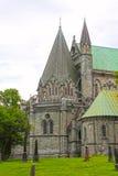 The Nidaros Cathedral in Trondheim Royalty Free Stock Image
