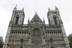The Nidaros Cathedral in Trondheim Stock Images