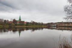 Nidaros Cathedral in Trondheim. Norway Royalty Free Stock Images