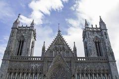 Nidaros Cathedral in Trondheim Royalty Free Stock Image