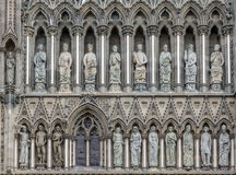 Nidaros Cathedral West Front Trondheim Norway Royalty Free Stock Photo