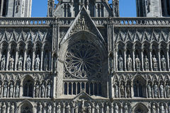 Nidaros Cathedral West Front Trondheim Stock Images