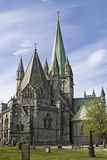 Nidaros church in Trondheim Stock Photography