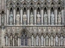 Nidaros-Kathedrale West-Front Trondheim Norway Lizenzfreies Stockfoto