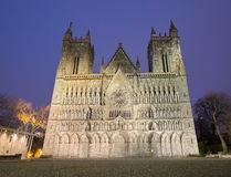 Nidarosi cathedral in the center of Trondheim Stock Photography