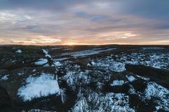 Nidderdale-Sonnenuntergang Stockbild