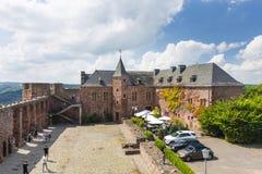Nideggen slottdomstol i Tyskland, ledare royaltyfria bilder