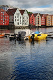 The Nidelva river in Trondheim. Royalty Free Stock Photo